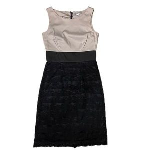 Beige and Black Lace Sheath Dress from H&M - 4